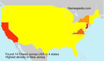 Surname Oswari in USA