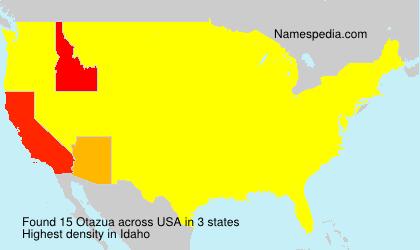 Surname Otazua in USA