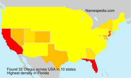 Surname Otegui in USA