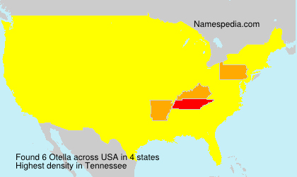 Familiennamen Otella - USA