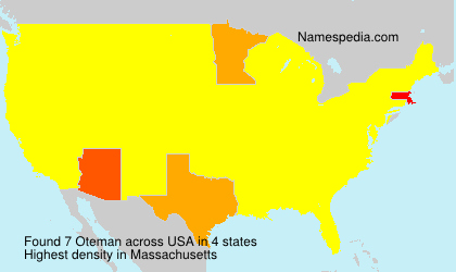 Surname Oteman in USA