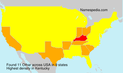 Surname Othar in USA