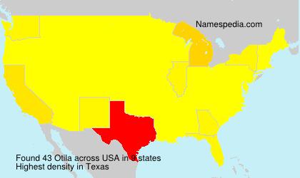 Familiennamen Otila - USA