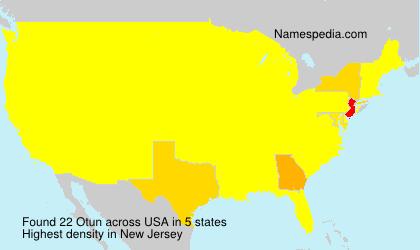 Surname Otun in USA