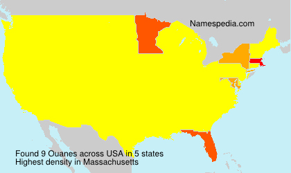 Surname Ouanes in USA