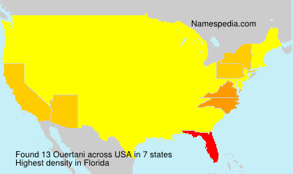 Surname Ouertani in USA