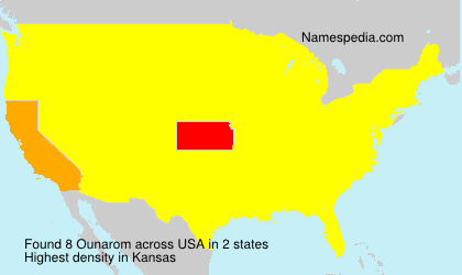 Surname Ounarom in USA