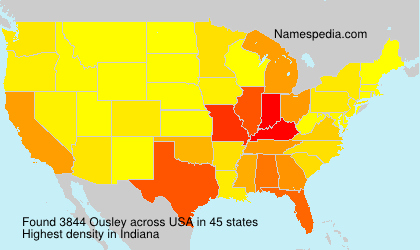 Surname Ousley in USA