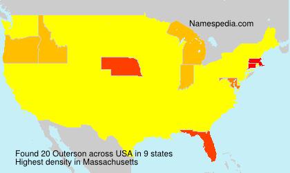Familiennamen Outerson - USA