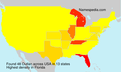 Surname Outlan in USA