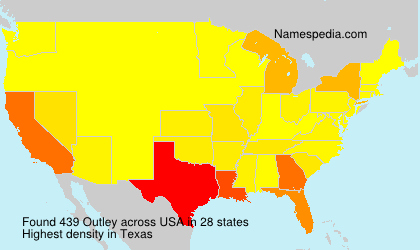 Surname Outley in USA