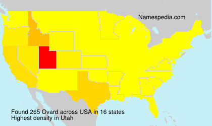 Surname Ovard in USA