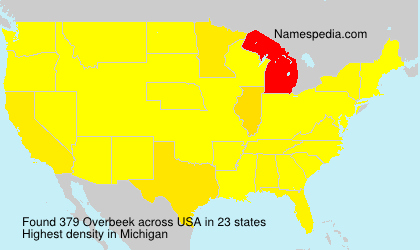 Surname Overbeek in USA