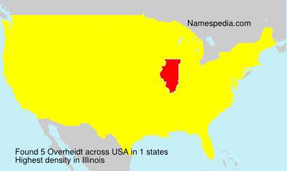 Surname Overheidt in USA