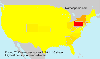 Surname Overmoyer in USA