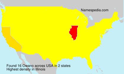 Surname Owano in USA
