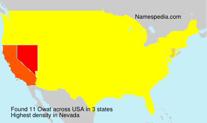 Surname Owat in USA