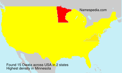 Surname Owata in USA