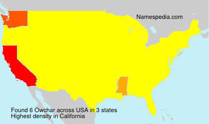 Surname Owchar in USA