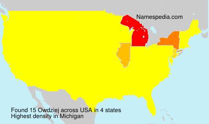 Surname Owdziej in USA