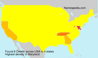 Surname Owelle in USA