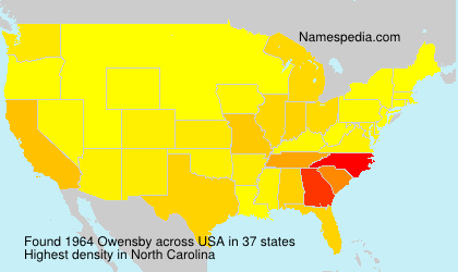 Surname Owensby in USA