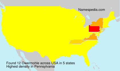 Surname Owermohle in USA