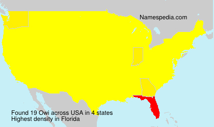 Surname Owi in USA