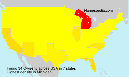 Surname Owiesny in USA