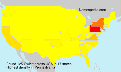 Surname Owlett in USA