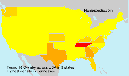 Surname Owmby in USA