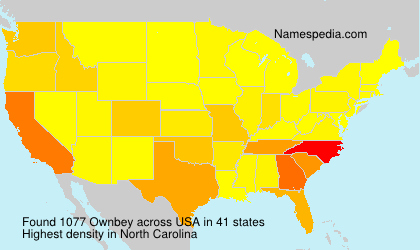 Surname Ownbey in USA