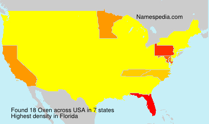 Surname Oxen in USA