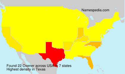 Surname Oxener in USA