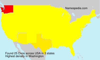 Surname Oxos in USA