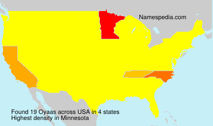 Surname Oyaas in USA