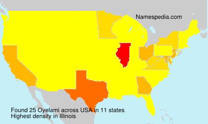 Surname Oyelami in USA