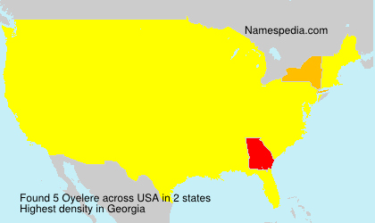 Surname Oyelere in USA