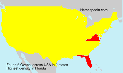 Surname Ozabal in USA