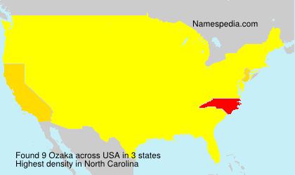 Surname Ozaka in USA