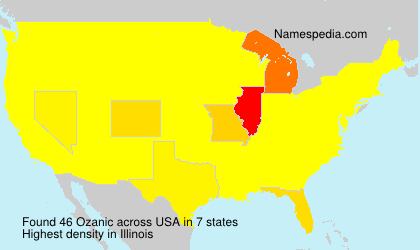 Surname Ozanic in USA