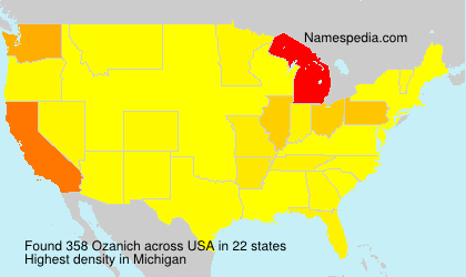 Surname Ozanich in USA
