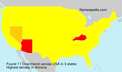 Surname Ozarchevici in USA