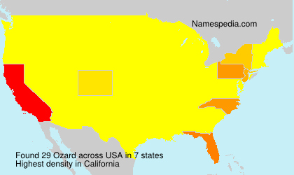 Surname Ozard in USA
