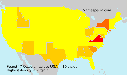 Surname Ozarslan in USA