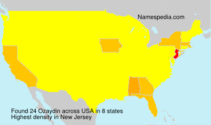 Surname Ozaydin in USA
