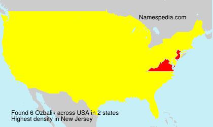 Surname Ozbalik in USA