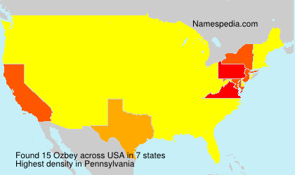 Surname Ozbey in USA