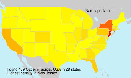 Surname Ozdemir in USA