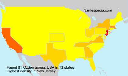 Surname Ozden in USA